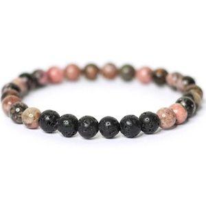 Black Rhodonite DIFFUSER Bracelet